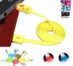 Cable Datos Cargador USB LED 1M 8 pin iPhone 5 5S 5C iOS 7 iPad iPod