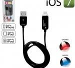 Cable Datos USB Cargador de 1M 8 pin iPhone 5 5S 5C iPad 4 Mini iPod iOS7