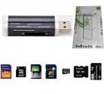 Lector Tarjetas de Memoria para Targetas SD TF MiniSD M2 MS MicroSD DV PRO DUO